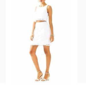 Lilly Pulitzer 2-piece White Crop & Skirt Set